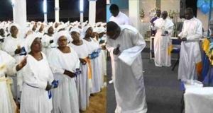 Celestial Church Members Sing & Dance To Olamide